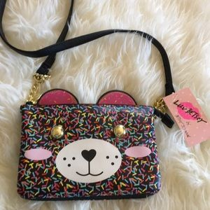 Super cute confetti puppy purse